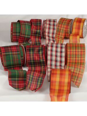 Wired Tartan Chic Ribbon