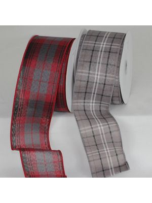 A Wired Plaid Ribbon