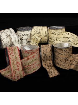 Wired Holiday Script Ribbon